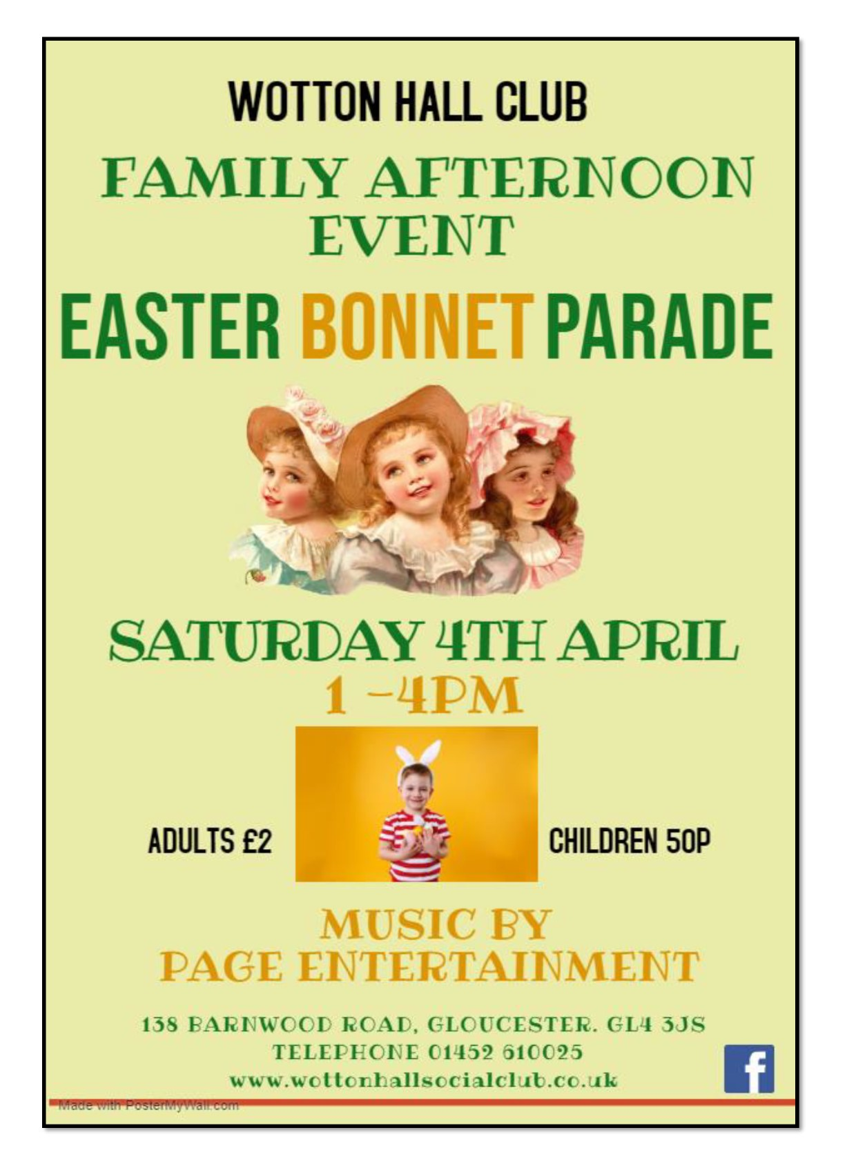 Easter Bonnet Parade 4th April Made with PosterMyWall online