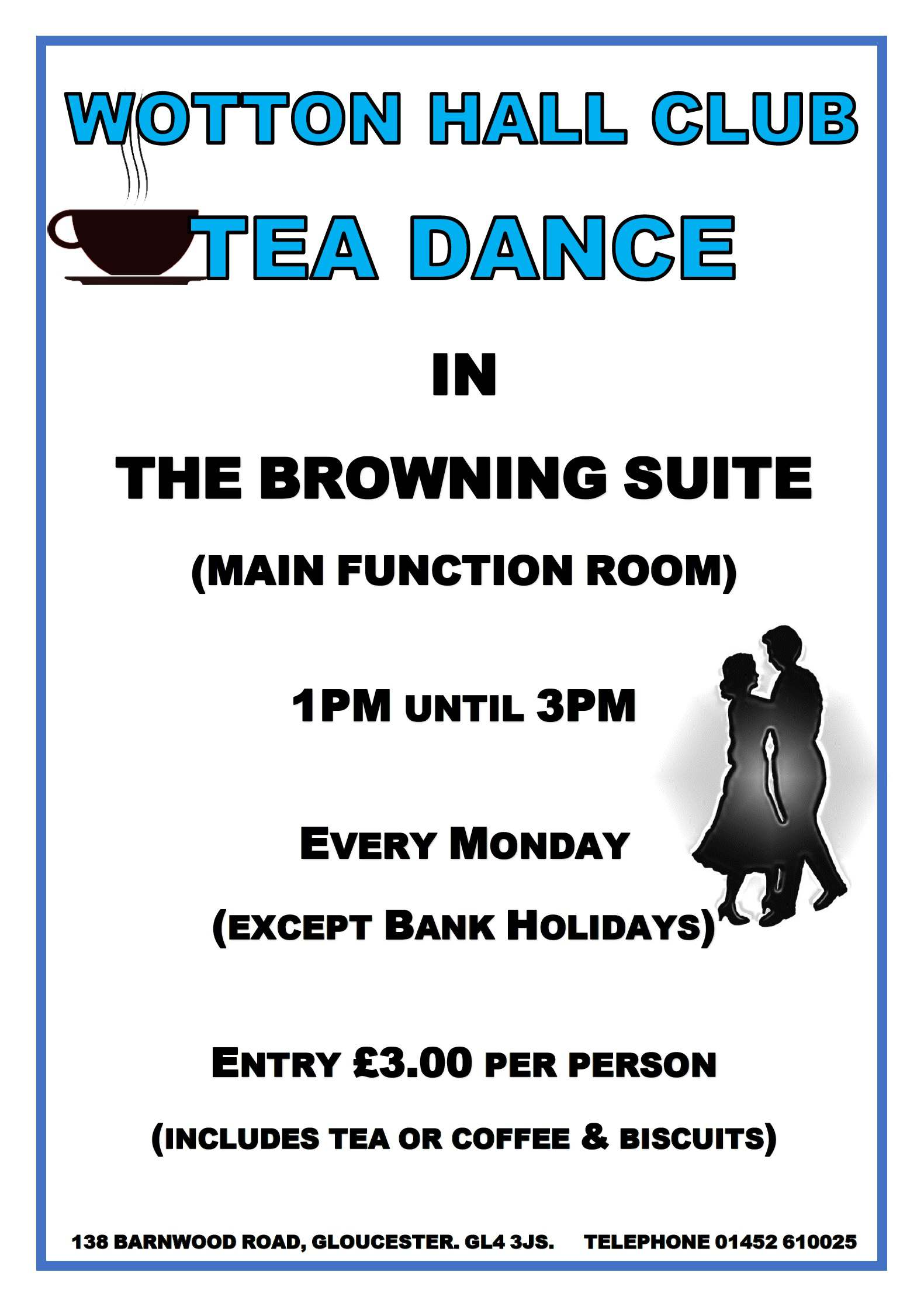 TEA DANCE MONDAY