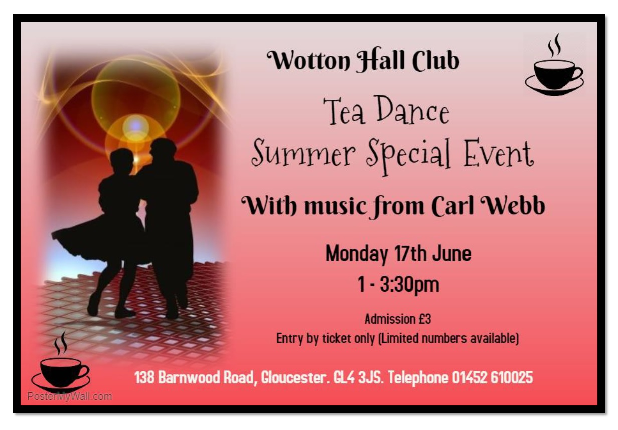 TEA DANCE SUMMER SPECIAL EVENT 17TH JUNE 2019 Made with PosterMyWall2